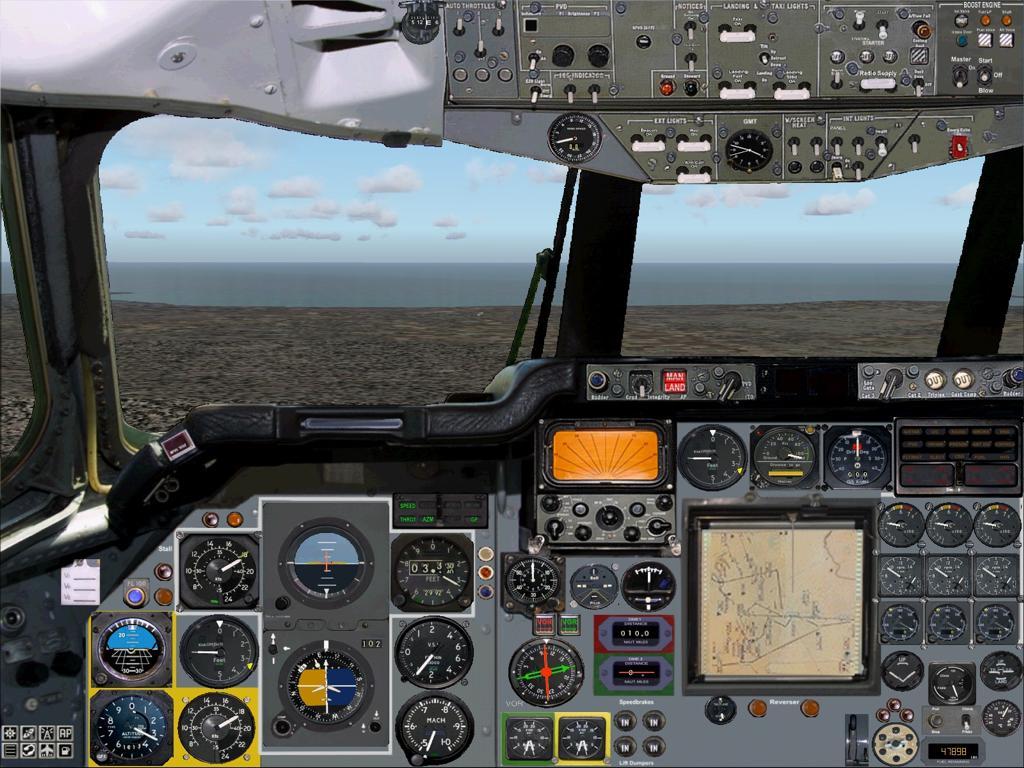 Vickers VC10 Simulation - Panel